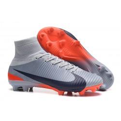 Buty Piłkarskie Nike Mercurial Superfly V FG Szary Pomarańczowy