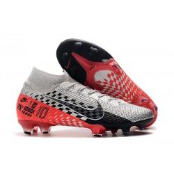 Neymar Buty Nike Mercurial Superfly 7 Elite DF FG - Chrom Czerwony Czarny