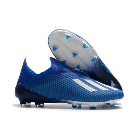 Buty Piłkarskie adidas X 19+ FG Niebieski Biały