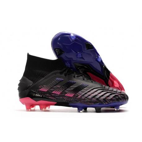 adidas Buty Piłkarskie Predator 19+ FG - Czarny Różowy Niebieski