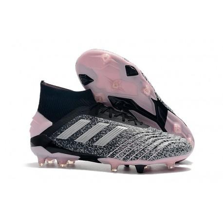 adidas Buty Piłkarskie Predator 19+ FG - Czarny Szary Różowy