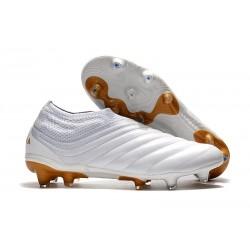 adidas Buty Piłkarskie Copa 19+ FG - Biały Złoto