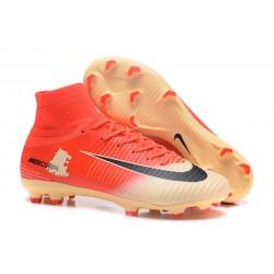 Buty Piłkarskie Nike Mercurial Superfly V FG Czerwony Złoty