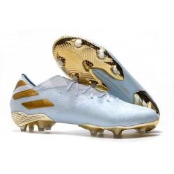 adidas Nemeziz 19.1 FG Buty - Niebieski Złoty Biały