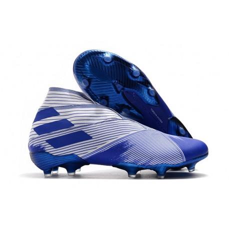 Buty piłkarskie adidas Nemeziz 19+ Fg Biały Niebieski