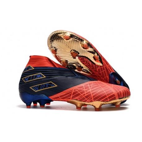 Buty piłkarskie adidas Nemeziz 19+ Fg X MARVEL Czerwony Niebieski Czarny