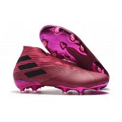 Buty piłkarskie adidas Nemeziz 19+ Fg Różowy Czarny