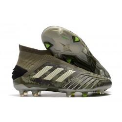adidas Buty Piłkarskie Predator 19+ FG - Zielony Piaskowy Żółty