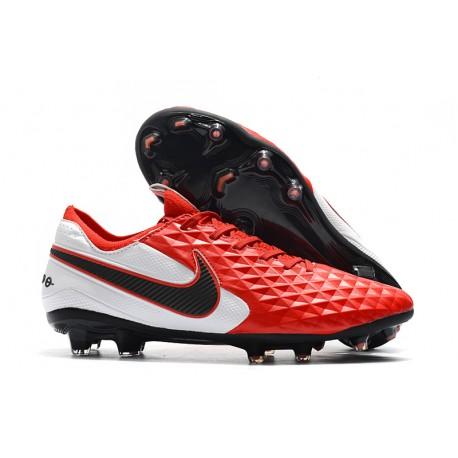 Buty Piłkarskie Nike Tiempo Legend VIII FG -Biały Czerwony