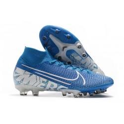Buty piłkarskie Nike Mercurial Superfly VII Elite AG-PRO Niebieski Biały