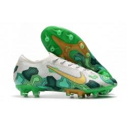 Mbappe Buty Nike Mercurial Vapor 13 Elite AG-Pro Wilczy Złoto Zielony