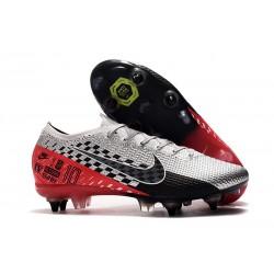 Nike Mercurial Vapor 13 Elite SG-PRO Anti-Clog Neymar Chrom Czarny Czerwony Platyna