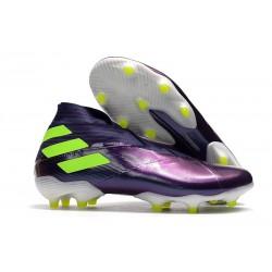 Buty piłkarskie adidas Nemeziz 19+ Fg Fioletowy Zawistny
