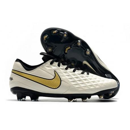 Buty Piłkarskie Nike Tiempo Legend VIII FG -Biały Złoto