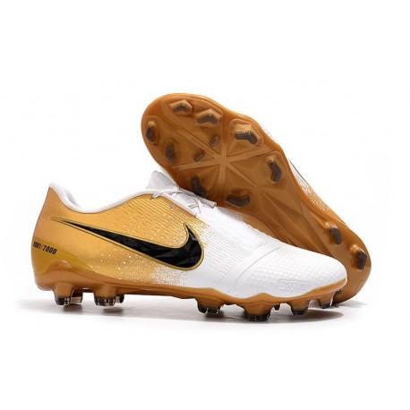 Buty Piłkarskie Nike Phantom Vnm Elite Fg -Złoto Biały Czarny