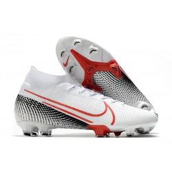 Buty Nike Mercurial Superfly 7 Elite DF FG -Biały Czerwony Czarny