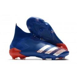 Korki piłkarskie Adidas Predator Mutator 20+ FG Niebieski Biały Czerwony