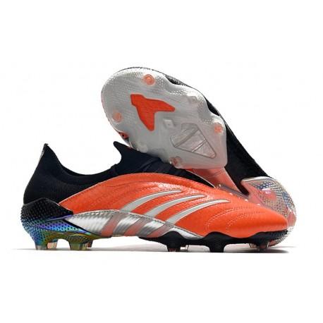 Buty Piłkarskie adidas Predator Archive FG -Pomarańczowy Czarny Srebro