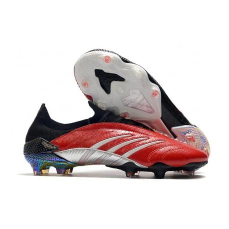 Buty Piłkarskie adidas Predator Archive FG -Czerwony Czarny Srebro