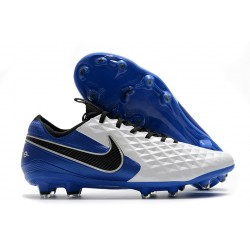 Nike Korki Pilkarskie Tiempo Legend 8 Elite FG Biały Niebieski Czarny