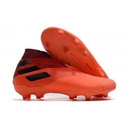 Buty piłkarskie adidas Nemeziz 19+ Fg Pomarańczowy Czarny