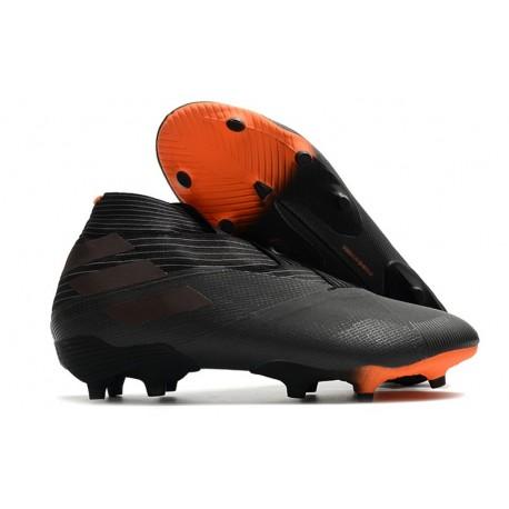 Buty piłkarskie adidas Nemeziz 19+ Fg Czarny Pomarańczowy