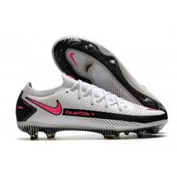 Buty Piłkarskie Nike Phantom GT Elite FG Biały Różowy Czarny