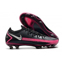 Buty Piłkarskie Nike Phantom GT Elite FG Czarny Srebrny Różowy