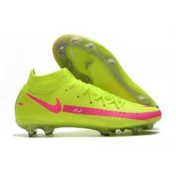 Buty piłkarskie Nike Phantom GT Elite Dynamic Fit FG - Zielony Różowy
