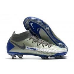 Buty piłkarskie Nike Phantom GT Elite Dynamic Fit FG - Srebro Niebieski