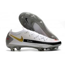 Nike 2021 Korki Pilkarskie Phantom GT Elite FG Biały Czarny Czerwony