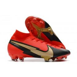 Nike Mercurial Superfly 7 Elite DF FG Czerwony Czarny Złoto
