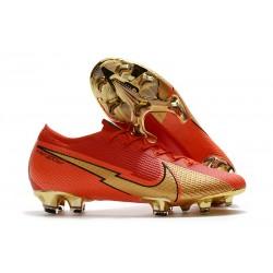 Nike Buty Mercurial Vapor XIII Elite FG Ronaldo CR100 Czerwony Złoto