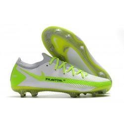 Nike 2021 Korki Pilkarskie Phantom GT Elite FG Biały Zielony