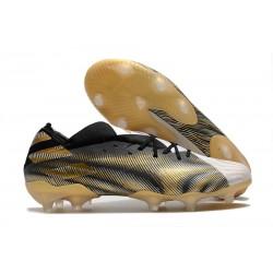 adidas Nemeziz 19.1 FG Buty - Biały Czarny Złoto