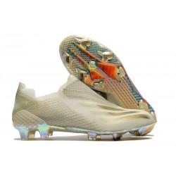 Buty Piłkarskie adidas X Ghosted + FG Biały Złoto