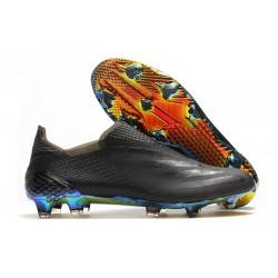 Buty Piłkarskie adidas X Ghosted + FG Czarny Niebieski