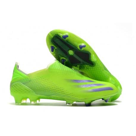 Buty Piłkarskie adidas X Ghosted + FG Zielony Fioletowy