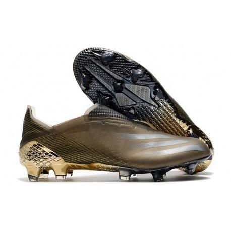 Buty Piłkarskie adidas X Ghosted + FG Brązowy