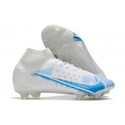 Buty Piłkarskie Nike Mercurial Superfly 8 Elite FG Biały Niebieski