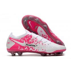 Buty Piłkarskie Nike Phantom GT Elite FG Biały Różowy