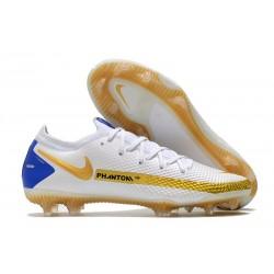 Buty Piłkarskie Nike Phantom GT Elite FG Biały Złoto Niebieski