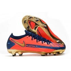 Buty Piłkarskie Nike Phantom GT Elite FG Pomarańczowy Niebieski Złoty