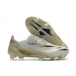 Buty Piłkarskie adidas X Ghosted.1 FG Biały Złoto Czarny