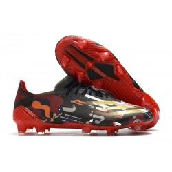 Buty Piłkarskie adidas X Ghosted.1 FG Czarny Czerwony Złoty