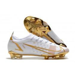 Buty piłkarskie Nike Mercurial Vapor 14 Elite FG Biały Złoto