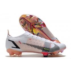 Buty piłkarskie Nike Mercurial Vapor 14 Elite FG Biały Czarny Czerwony