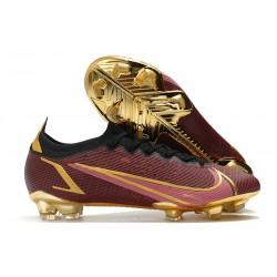 Buty piłkarskie Nike Mercurial Vapor 14 Elite FG Czerwony Złoty