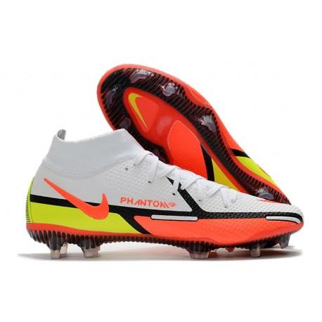 Nike Phantom GT2 Elite DF FG Biały Czerwony Zawistny