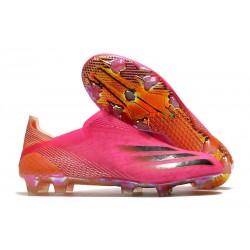 Buty Piłkarskie adidas X Ghosted + FG Różowy Czarny Pomarańczowy